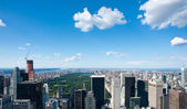 Central park and skyscrapers aerial view from Rockefeller center — Stock Photo
