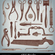 Royalty-Free Stock Vector Image: Engraving vintage surgery tools