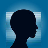 Human head illustration — Stock Vector