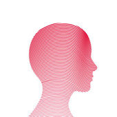Human head made by lines — Stock Vector