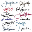 Set of imaginary signature - Stock Vector