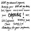 Hand written greetings — Vector de stock #18835843