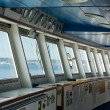 Control room windows view in modern passengers ship - Stock Photo