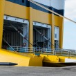 Open car ferry ramp. Port of Toulon, France - Stock Photo