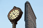 NEW YORK CITY - JUNE 28: Flat Iron building facade on June, 28th 2012 in New York City — Stock Photo