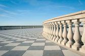 Mascagni terrace in front of the sea, Livorno. Tuscany, Italy — Stock Photo