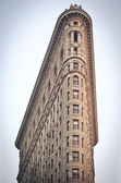 NEW YORK CITY - JUNE 28: Flat Iron building facade on June, 28th — Stock Photo
