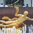 Постер, плакат: NEW YORK JUNE 22: Prometheus statue at Rockefeller Center on 5th Avenue on June 22 2012 in New York City