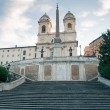 Empty Spanish Steps from Piazza di Spagna. Rome, Italy. — Stock Photo