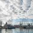 Sail boats in Toulon port, France. - Stock Photo