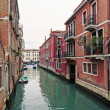 Stock Photo: Typical canal of Venice, Italy.