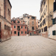 Typical square of Venice, Italy. — Stock Photo #21629487