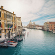 Grand canal and Santa Maria della Salute, Venice, Italy. - Stock Photo