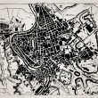 Historical map of Rome, Italy. - Image vectorielle