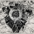 Historical map of Wien, Austria. - Image vectorielle