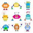 Robot collection. — Stock Vector
