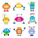 Robot collection. — Stock Vector