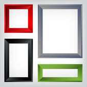 Set of different frames. — Stock Vector