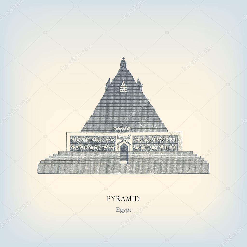 雕刻复古从埃及金字塔