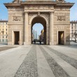 Porta Garibaldi ancient city entrance. Milan, Italy. — Stock Photo