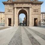 Porta Garibaldi ancient city entrance. Milan, Italy. — Stock Photo #23085408