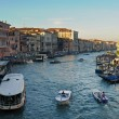 VENICE, ITALY - SEPTEMBER 30: Boats in Grand Canal, one of the major water-traffic corridors in the city. - Stock Photo