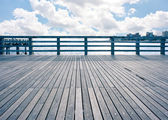Empty pier at Coney Island beach, New York City. — 图库照片