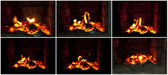 Coals in the fireplace — Stock fotografie
