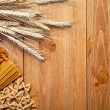 Pasta With Wheat — Stockfoto
