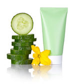 Cucumber Face Mask — Stock Photo