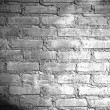 Spotlight on the brick wall — Stock Photo