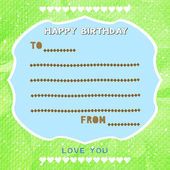 Happy birthday card — Stockfoto