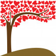 Stock Vector: Tree of love