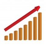 Success chart — Stock Vector