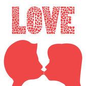 愛のキス — ストックベクタ