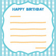 Card for Birthday — Stock Vector