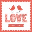 Love forever — Vector de stock #33887961