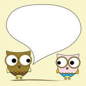 Owl card. — Stock Vector
