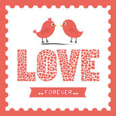 Love forever — Vector de stock