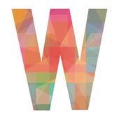 W alphabet — Stock Vector