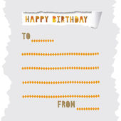 Happy birthday card for everyone. — Stock Vector