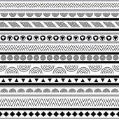 Dikişsiz siyah-beyaz desen — Stok Vektör