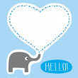 Hello Card — Stock Vector