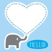 Hello Card — Stock Vector