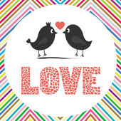 Two birds in love. — Stock Vector