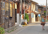 Tourist in Chiang Khan — Foto Stock