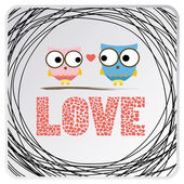 Two birds in love. — Stock Vector