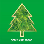Christmas tree card — Stock Photo