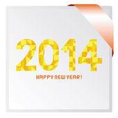 Frohes neues jahr 2014 karte — Stockfoto