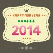 Happy new year 2014 card17 — Stock Vector